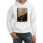 Mom's Chocolate Lab Hooded Sweatshirt