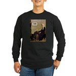 Mom's Chocolate Lab Long Sleeve Dark T-Shirt