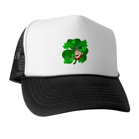 Leprechaun Shamrocks Trucker Hat