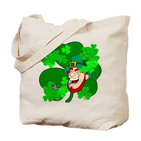 Leprechaun Shamrocks Tote Bag