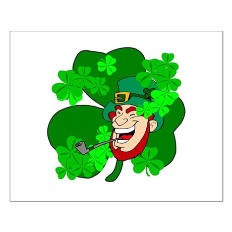 Leprechaun Shamrocks Small Poster