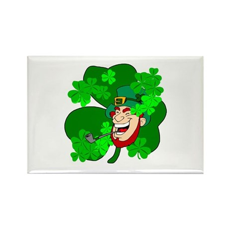 Leprechaun Shamrocks Rectangle Magnet (100 pack)