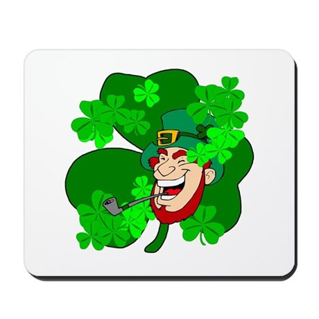 Leprechaun Shamrocks Mousepad