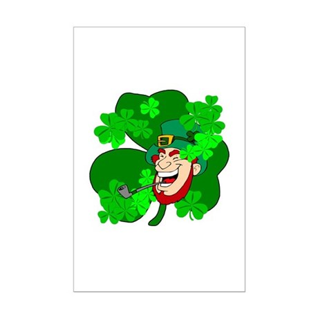 Leprechaun Shamrocks Mini Poster Print