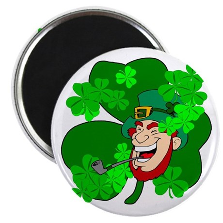 "Leprechaun Shamrocks 2.25"" Magnet (100 pack)"