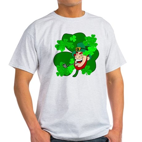 Leprechaun Shamrocks Light T-Shirt