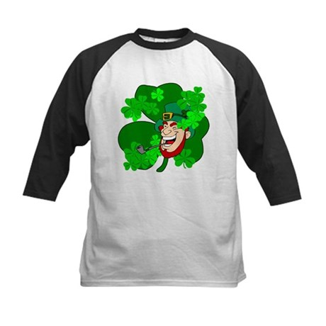 Leprechaun Shamrocks Kids Baseball Jersey