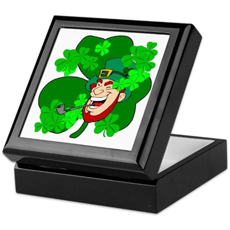 Leprechaun Shamrocks Keepsake Box