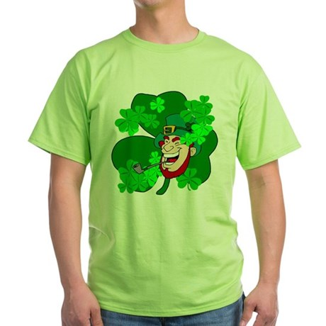 Leprechaun Shamrocks Green T-Shirt