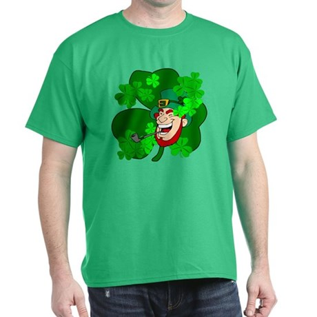 Leprechaun Shamrocks Dark T-Shirt