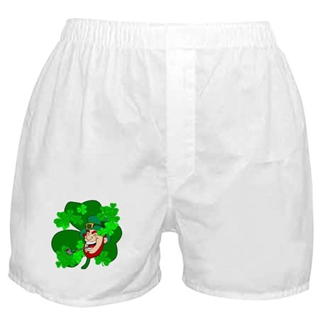 Leprechaun Shamrocks Boxer Shorts