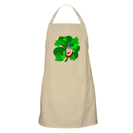 Leprechaun Shamrocks BBQ Apron