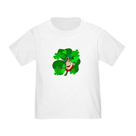Leprechaun Shamrocks Toddler T-Shirt