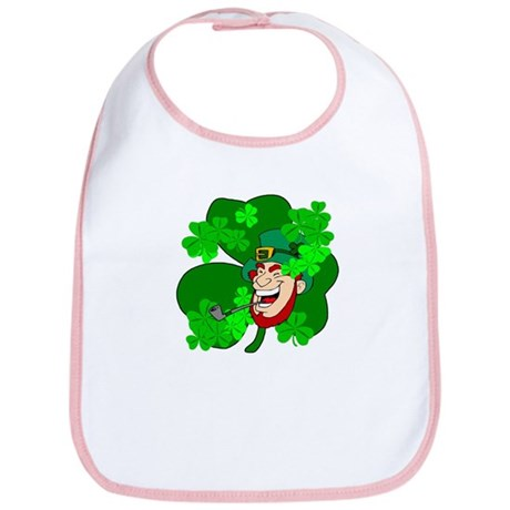Leprechaun Shamrocks Bib