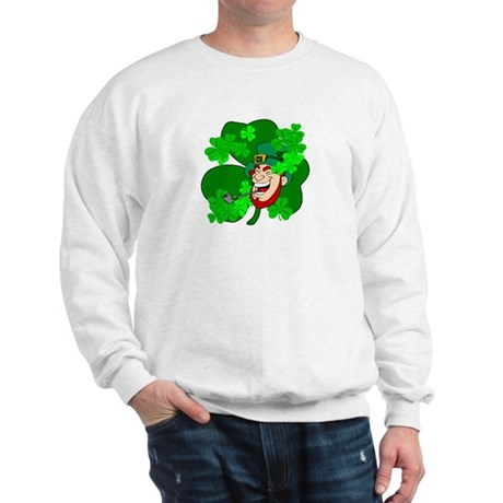 Leprechaun Shamrocks Sweatshirt