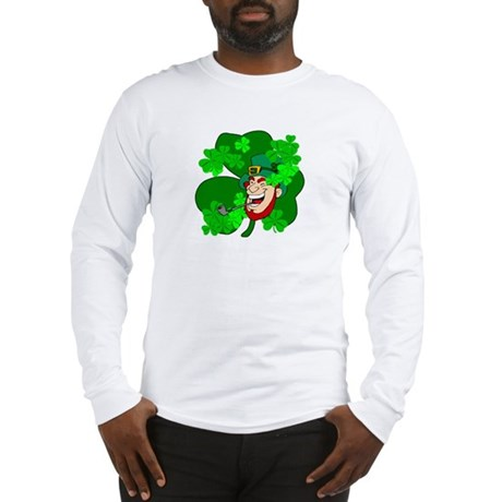 Leprechaun Shamrocks Long Sleeve T-Shirt