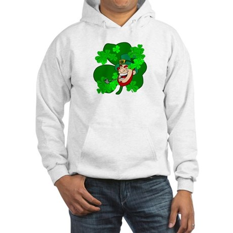 Leprechaun Shamrocks Hooded Sweatshirt
