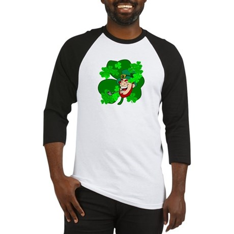 Leprechaun Shamrocks Baseball Jersey