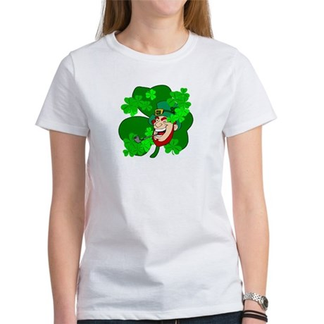 Leprechaun Shamrocks Women's T-Shirt