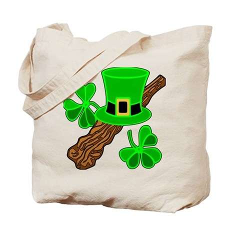 Leprechaun Hat and Shillelagh Tote Bag