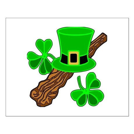 Leprechaun Hat and Shillelagh Small Poster