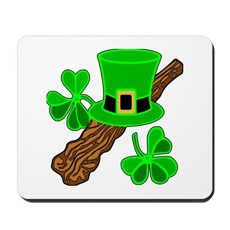 Leprechaun Hat and Shillelagh Mousepad