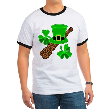 Leprechaun Hat and Shillelagh Ringer T