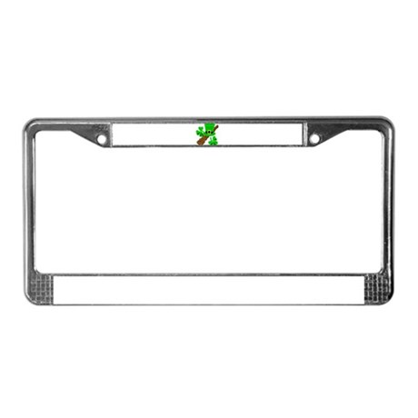 Leprechaun Hat and Shillelagh License Plate Frame