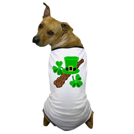 Leprechaun Hat and Shillelagh Dog T-Shirt
