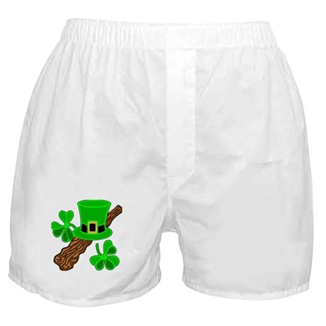 Leprechaun Hat and Shillelagh Boxer Shorts