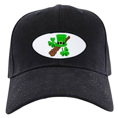 Leprechaun Hat and Shillelagh Black Cap
