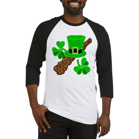 Leprechaun Hat and Shillelagh Baseball Jersey