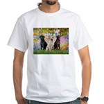 Monet's Garden & Lab Trio White T-Shirt