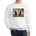 Monet's Garden & Lab Trio Sweatshirt