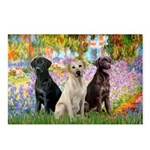 Monet's Garden & Lab Trio Postcards (Package of 8)
