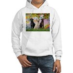 Monet's Garden & Lab Trio Hooded Sweatshirt