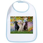 Monet's Garden & Lab Trio Bib