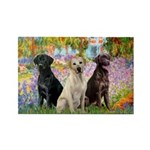Monet's Garden & Lab Trio Rectangle Magnet