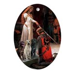 The Accolade & Lab Trio Ornament (Oval)