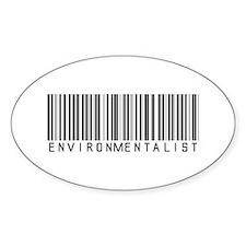 Environmentalist Bar Code Oval Decal