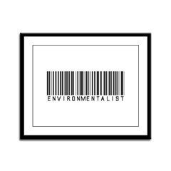 Environmentalist Bar Code Framed Panel Print
