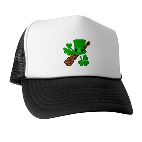 Leprechaun Hat and Shillelagh Trucker Hat