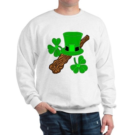 Leprechaun Hat and Shillelagh Sweatshirt