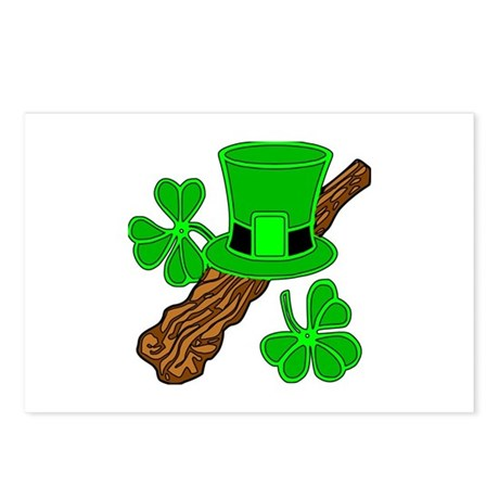 Leprechaun Hat and Shillelagh Postcards (Package o