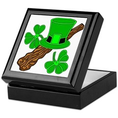 Leprechaun Hat and Shillelagh Keepsake Box