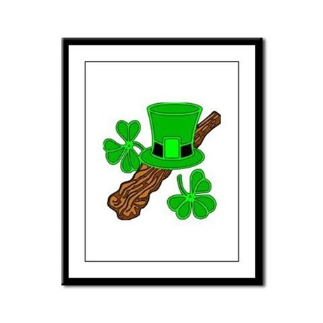 Leprechaun Hat and Shillelagh Framed Panel Print
