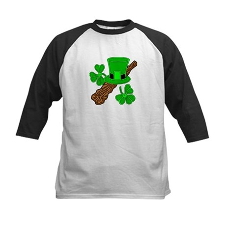 Leprechaun Hat and Shillelagh Kids Baseball Jersey