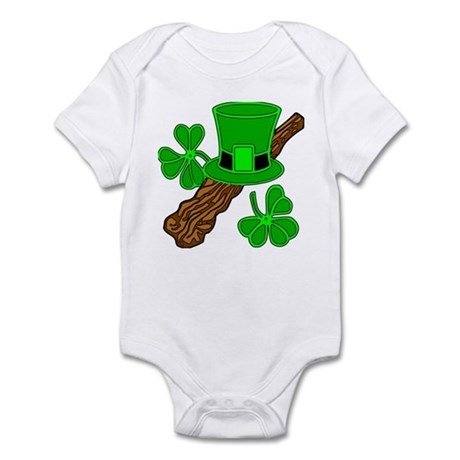 Leprechaun Hat and Shillelagh Infant Bodysuit