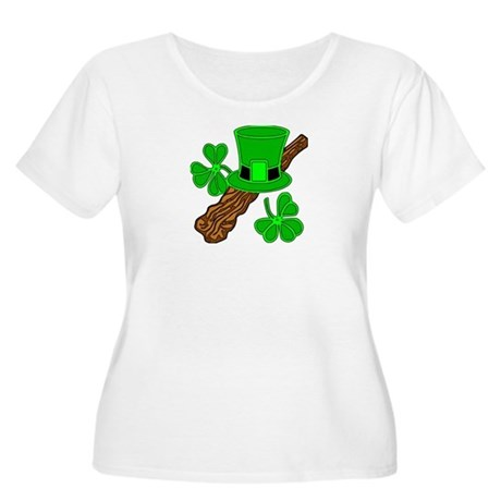 Leprechaun Hat and Shillelagh Women's Plus Size Sc
