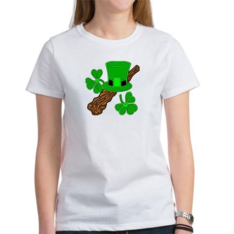 Leprechaun Hat and Shillelagh Women's T-Shirt